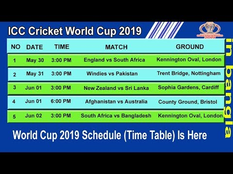 Pic of a world cup schedule 2020 pdf indian time excel