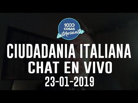 23-01-2019 - Chat en Vivo con Seba Polliotto - Ciudadanía Italiana en Italia 1000 Cosas Interesantes