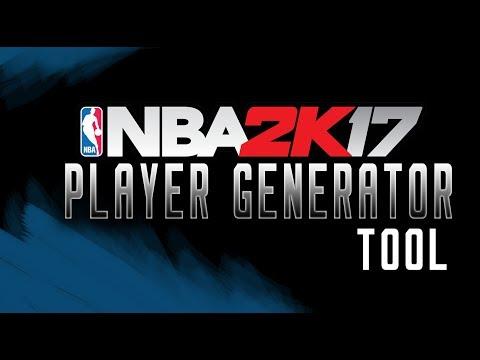 NBA 2K17 Player Generator Tool -  PC, PS4, XB1