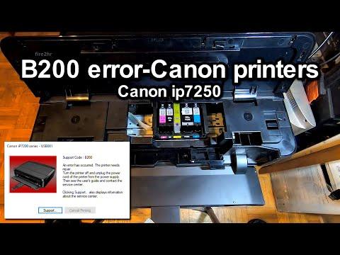 B200 Error-Canon Printers (Canon Ip7250)