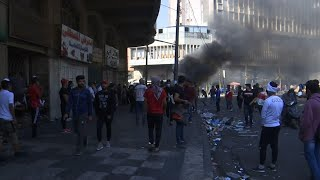 Protesters clash with Iraqi security forces