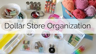 dollar store items organization