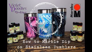 Easy Marble on Stainless Tumblers