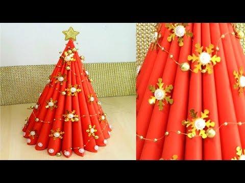 Paper Christmas Tree | How to Make a 3D Paper Xmas Tree DIY Tutorial | Christmas Decor. Julia Datta