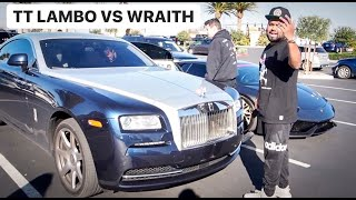 TWIN TURBO LAMBORGHINI RACES ROLLS ROYCE LOL! *Road Rage*!