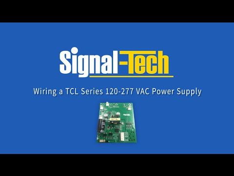 wiring a tcl series 120 277 vac power supply youtube rh youtube com