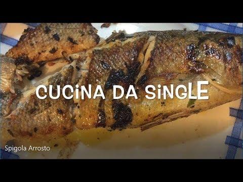 Spigola Arrosto - Cucina da single - Oggi cucina Beppe! - YouTube