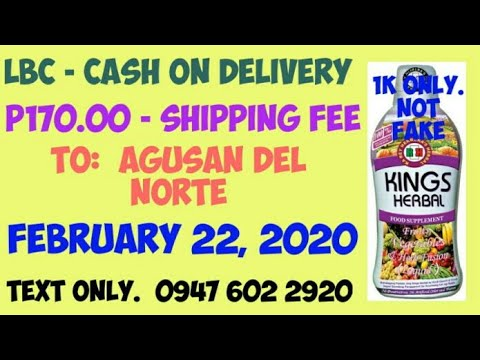 Nagpa-COD ng Kings Herbal Food Supplement sa Agusan Del Norte, February 22, 2020. Salamat po.