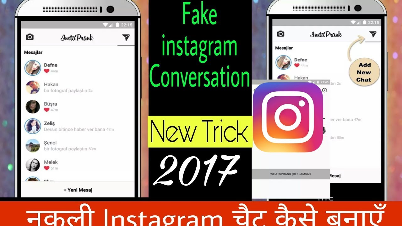 How to Create instagram fake chat[PRANK]