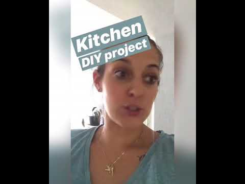 DIY open shelving kitchen - Mommy My Way