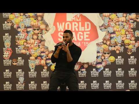 Press Interview with Jason Derulo @ MTV World Stage Malaysia 2015 #worldstagemy