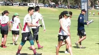 WFDF World Under 24 Ultimate Championship: Hong Kong v China - Mixed