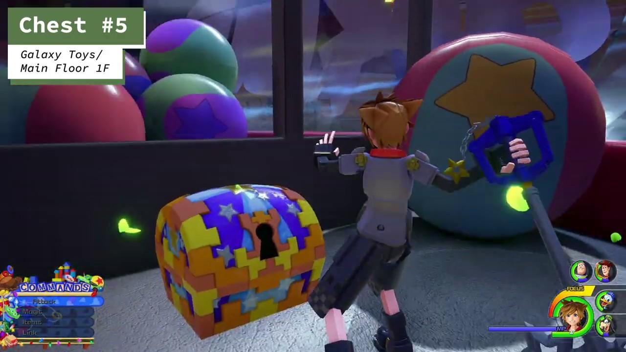 Kingdom Hearts 3 Toy Box All Treasure Chest Locations Youtube