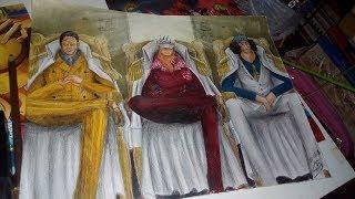 Drawing Admirals Akainu, Aokiji and Kizaru MARINE ONE PIECE - Nyu Ackerman
