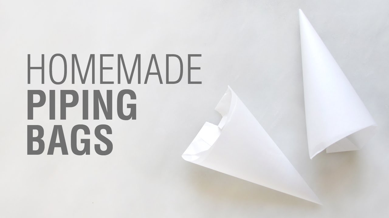 Homemade Parchment Paper Piping Bags