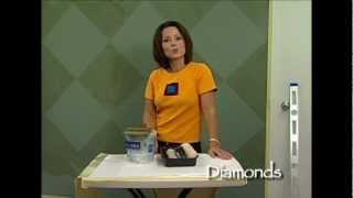 How-to Faux Finish Step Instruction - Paint Diamond Patterns By The Woolie