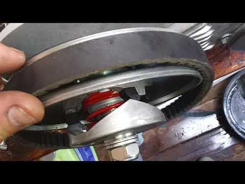 40 series torque converter install on predator 420cc - YouTube