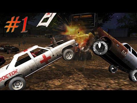 ГОНКИ НА ВЫЖИВАНИЕ [1] Игровой мультик про машины Битва машин Аварии Игра Demolition Derby