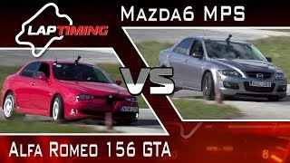 Régi csibészek.  Alfa Romeo 156 GTA vs. Mazda6 MPS (LapTiming ep.  52)