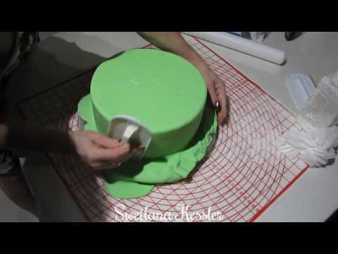 Как выровнять торт под мастику 5 Я ТОРТодел! YouTube