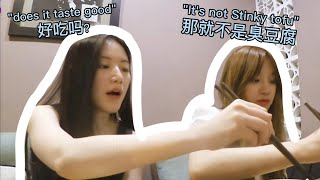 Yuqi and Shuhua speaking Chinese
