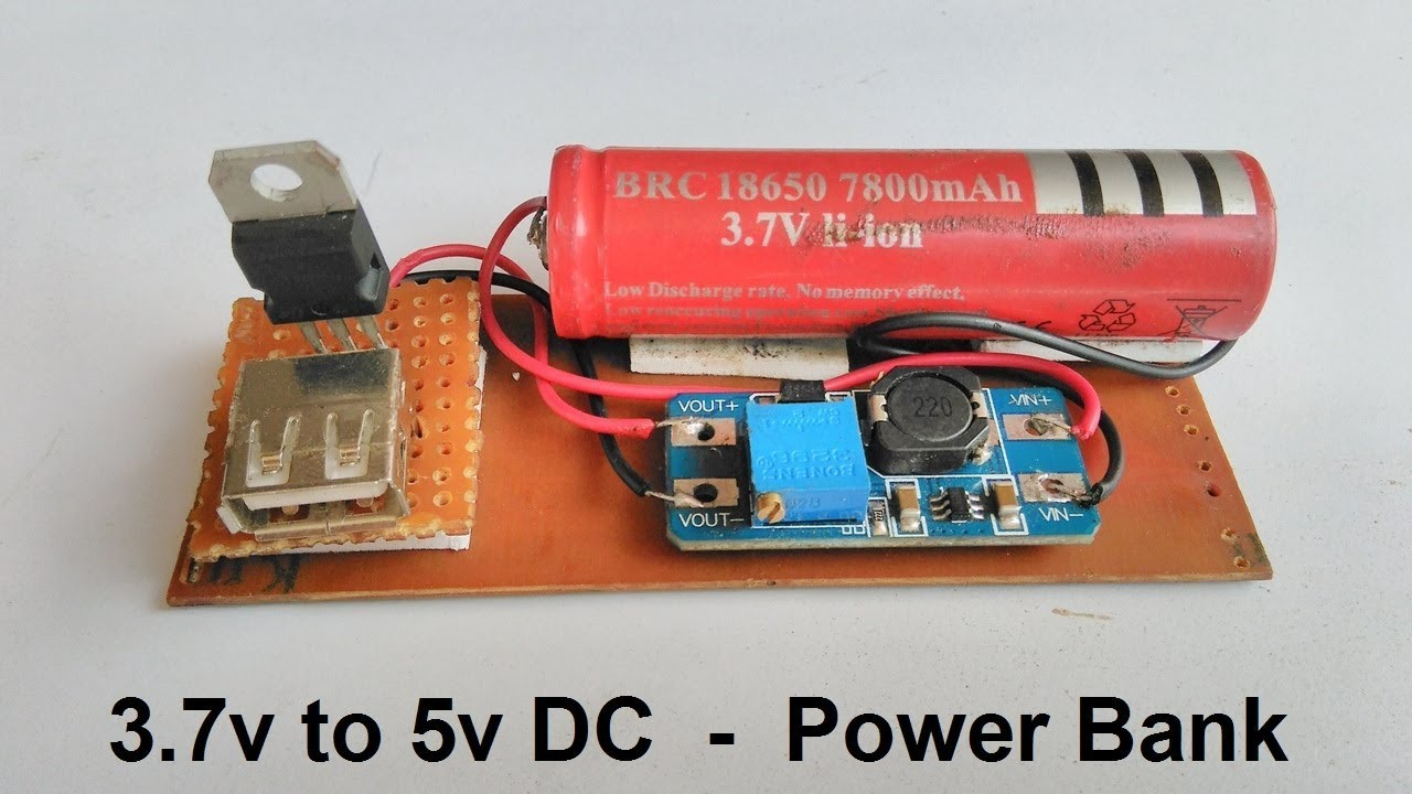 37v To 5v Dc Converter Mobile Power Bank Using Step Up Boost Battery Eliminator Circuit With L7812cv And 7805 Module
