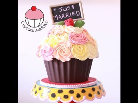 Decorate A GIANT CUPCAKE Shabby Chic Rose Bouquet Design A - Bug cupcake decorating ideas