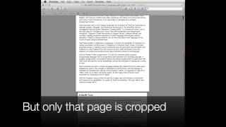 Crop a PDF file with Preview on Apple Mac OSX