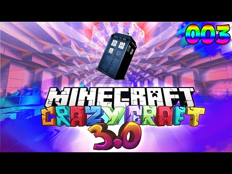 "Minecraft CRAZY CRAFT 3.0 - ""TRAVELLING IN TIME?!"" #3 (Modded Survival)"