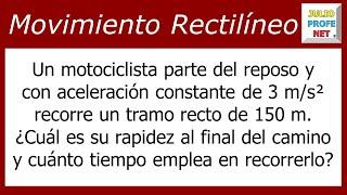 MOVIMIENTO RECTILÍNEO UNIFORMEMENTE ACELERADO - Problema 2
