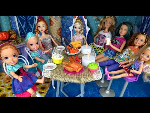 thanksgiving-celebration-!-elsa-&-anna-toddlers---turkey---food