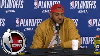 [FULL] Carmelo Anthony on ice-cold fourth quarter: 'I don't really have an answer' | NBA on ESPN thumbnail