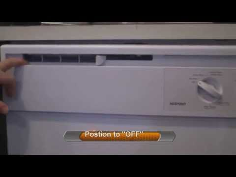 How to clean dishwasher door vent, hotpoint, GE,