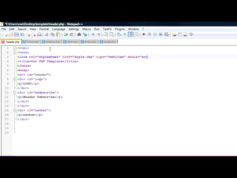 How to Create a Basic Website Design Template Using PHP, CSS, and XHTML Part 1 of 3