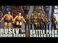 WWE ROMAN REIGNS vs RUSEV BATTLE PACK   FIGURE COLLECTION COMPARISON