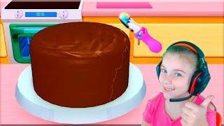 СЕКРЕТ ВКУСНЕЙШЕГО ТОРТА видео для детей готовим вкусный торт мультик игра для детей