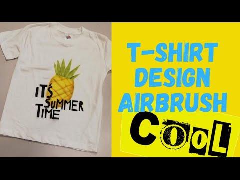 Making T-shirt with Airbrush - Workshop T-shirt Design