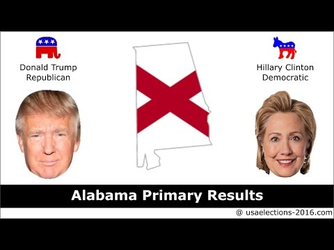Alabama Primary Result 2016 : US Election 2016
