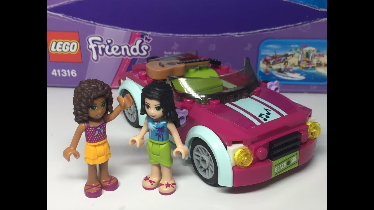 Lego Friends Andreas Car Build And Funny Adventure 41316 Youtube