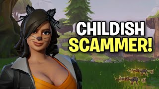 Exposing a Childish Scammer! (Scammer Get Scammed) Fortnite Save The World