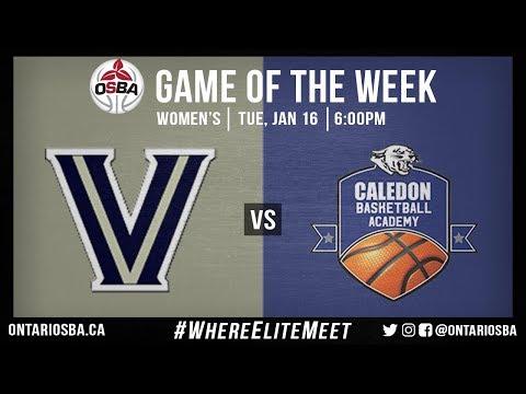 OSBA GOTW: Vaughan SS Prep vs Caledon Basketball Academy (Women)
