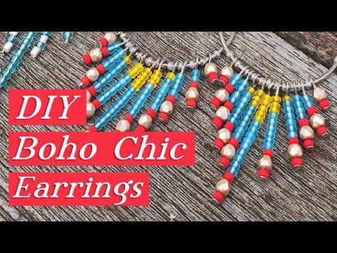 Gypsy Chic Dangle Earrings-Beaded Jewelry Tutorial