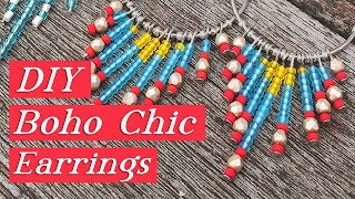 Gypsy Chic Dangle Earrings-Beaded Jewelry Tutorial