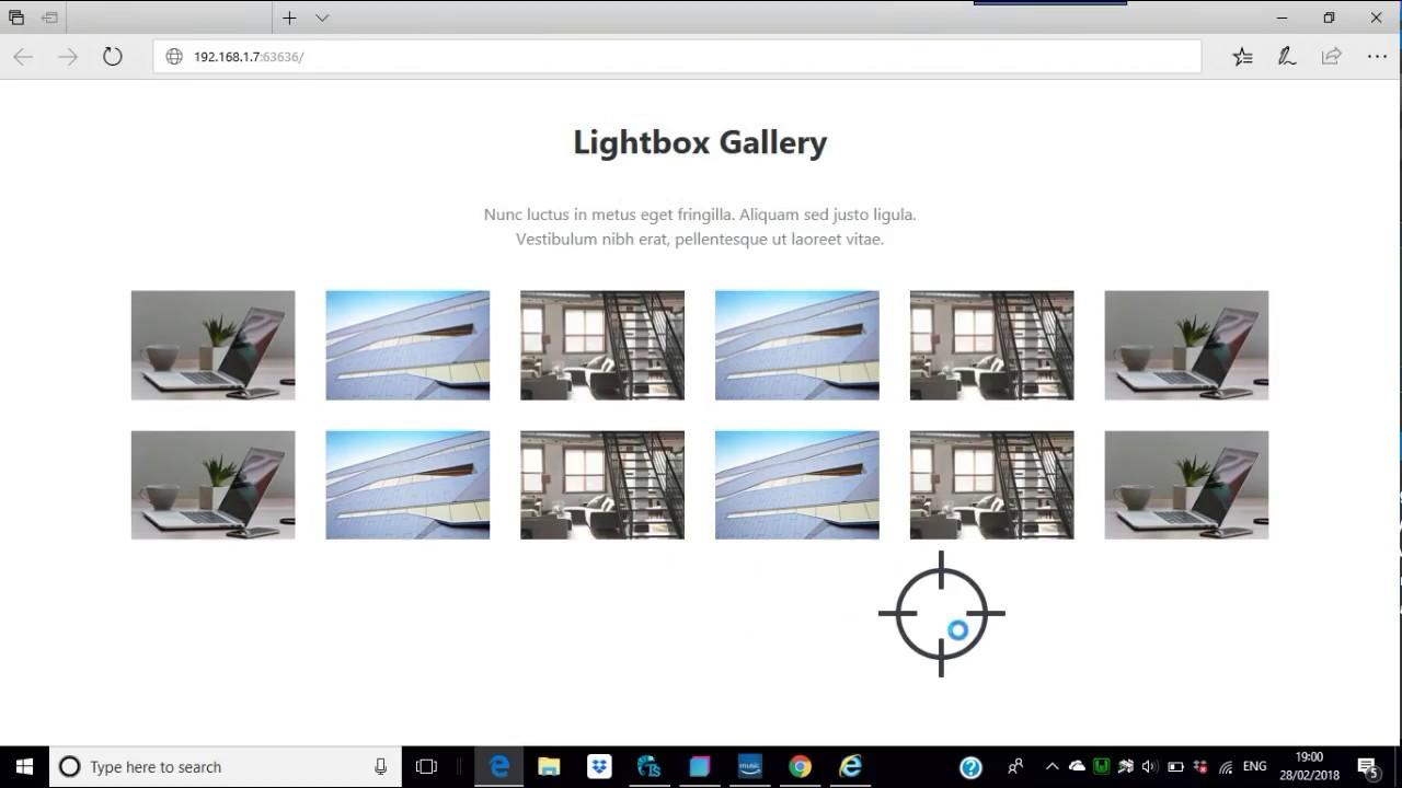 Adjustments in Bootstrap Studio Lightbox Gallery