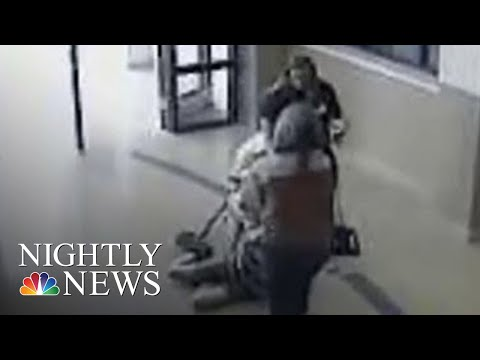 Video 11-Year-Old With Autism Being Dragged Through School Teacher & School Nurse | NBC Nightly News