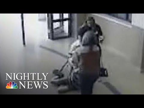 Video 11-Year-Old With Autism Being Dragged Through School Teacher & School Nurse | NBC Nightly News