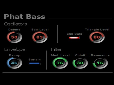 Free VST Instrument - Phat Bass