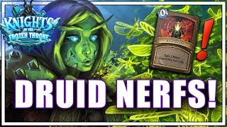Druid Nerfs! 5 Cards Getting Nerfed in the Next Hearthstone Patch!