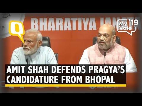 Pragya Thakur's Candidature a Satyagraha Against Fake Charges of Saffron Terror: Amit Shah