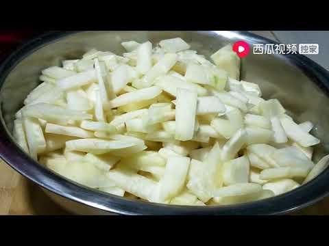 妈妈家常菜:苤蓝这样做清脆爽口,农村妈妈一次腌制7个,好吃又下饭   西瓜视频